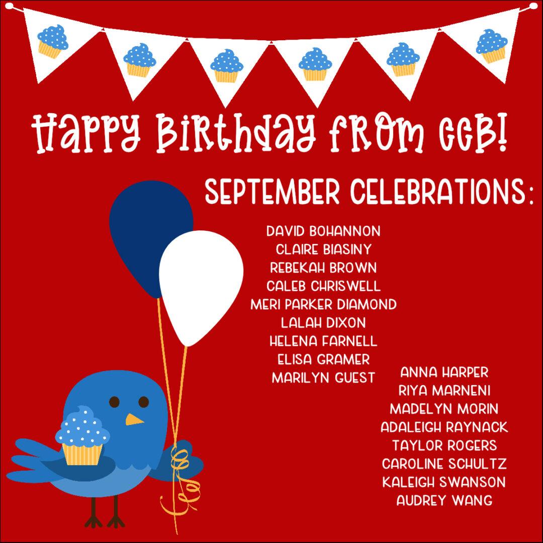 CCB, September Birthdays